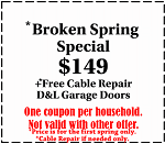 broken spring special for only 149